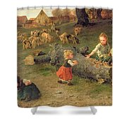 Mud Pies Shower Curtain by Ludwig Knaus