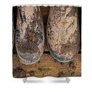 Muddy Boots On Deck Shower Curtain