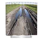 Muddy Country Road Shower Curtain