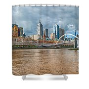Muddy River Shower Curtain