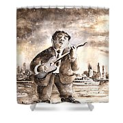 Muddy Waters In Chicago Shower Curtain