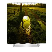 Mudhole Mirror Shower Curtain