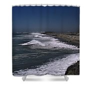 Mugu Lagoon Shower Curtain