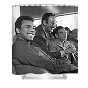 Muhammad Ali In Relaxed Mood At Dublin Airport Shower Curtain