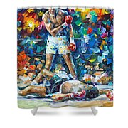 Muhammad Ali Shower Curtain by Leonid Afremov
