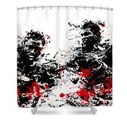 Muhammad Ali Shower Curtain by Bekim Art