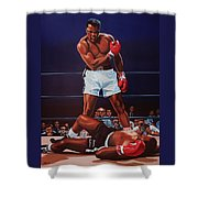 Muhammad Ali Versus Sonny Liston Shower Curtain