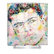 Muhammad Ali - Watercolor Portrait.1 Shower Curtain