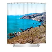 Muir Beach Lookout North View Shower Curtain
