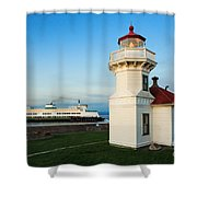 Mukilteo Ferry And Lighthouse Shower Curtain