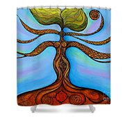 Muladhara Shower Curtain
