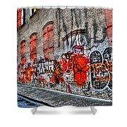 Mulberry Street Graffiti Shower Curtain