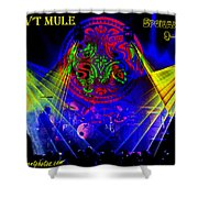 Mule #14 Enhanced Image With Text Shower Curtain