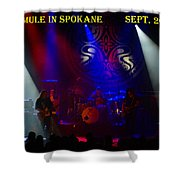 Mule #3 With Text Shower Curtain