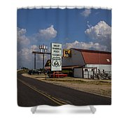 Mule Trading Post Shower Curtain