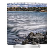 Mulholland Point Lighthouse Shower Curtain