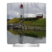 Mulholland Point Lighthouse - New Brunswick Shower Curtain