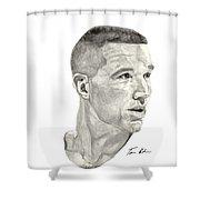 Mullin Shower Curtain by Tamir Barkan