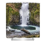 Multhomah Falls In Winter Shower Curtain