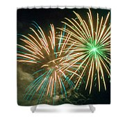 4th Of July Fireworks 2 Shower Curtain by Howard Tenke