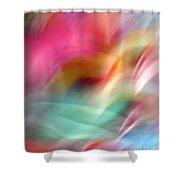 Multi-color Floral Shower Curtain