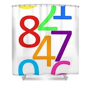Multi-color Numbers Shower Curtain