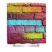 Multi-colored Brick Wall Shower Curtain