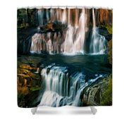 Multi-tiered Waterfalls Shower Curtain