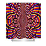 Multicolored Abstract Shower Curtain