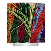 Multicolored Embroidery Thread Mixed Up  Shower Curtain