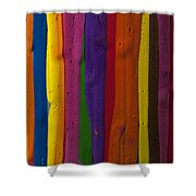 Multicolored Paint Can  Shower Curtain
