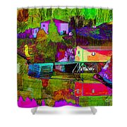 Multicolored Reflections Shower Curtain