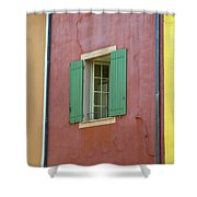 Multicolored Walls, France Shower Curtain