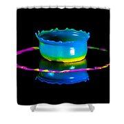 Multicoloured Bowl Shower Curtain