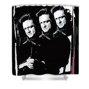 Multiple Johnny Cash Sitting Old Tucson Arizona 1971-2008 Shower Curtain