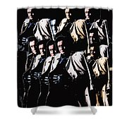 Multiple Johnny Cash's In Trench Coat 1 Collage Old Tucson Arizona 1971-2008 Shower Curtain