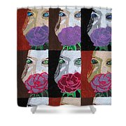 Multiple Personalities Shower Curtain