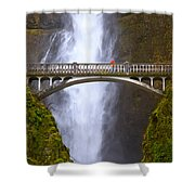 Multnomah Falls Bridge In Oregon Shower Curtain
