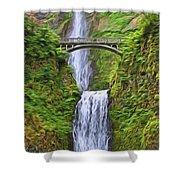 Multnomah Falls I Shower Curtain