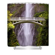 Multnomah Falls Silk Shower Curtain