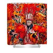 Mummer Red Shower Curtain