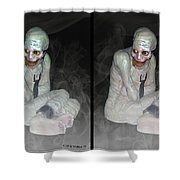 Mummy Dearest - Cross Your Eyes And Focus On The Middle Image That Appears Shower Curtain