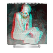 Mummy Dearest - Use Red-cyan Filtered 3d Glasses Shower Curtain