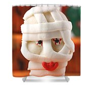 Mummy Sweet On Halloween Cup Cake Shower Curtain