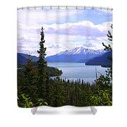 Muncho Lake View Shower Curtain
