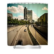 Munich Traffic Shower Curtain
