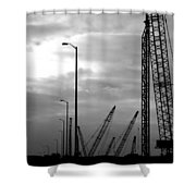Municipal Construction  Shower Curtain