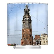 Munttoren In Amsterdam Shower Curtain
