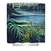 Mural Bird Of Summers To Come Shower Curtain
