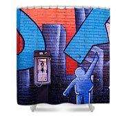 Mural, Nyc, New York City, New York Shower Curtain